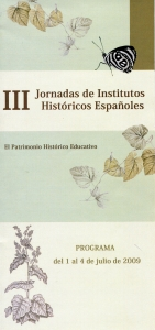 III JORNADAS INSTITUTOS HISTÓRICOS